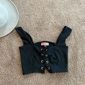 Cropped corset top